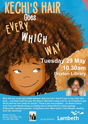 Kechi's Hair Goes Every Which Way Launches at Brixton Library