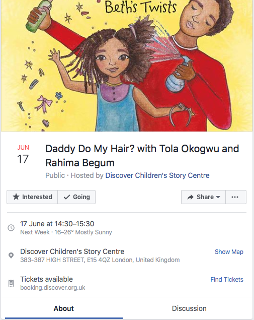 Daddy Do My Hair at The Discover Children's Story Centre
